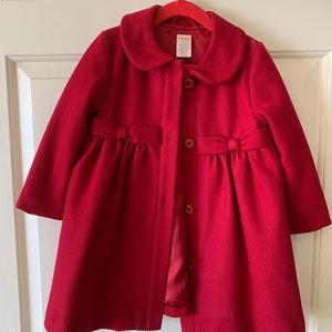 Gymboree Toddler Girls' Red Pea Coat